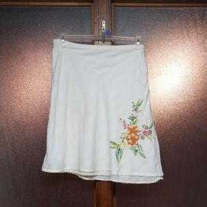 Roxy embroidered tiered skirt